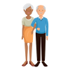 Vector image of older couple